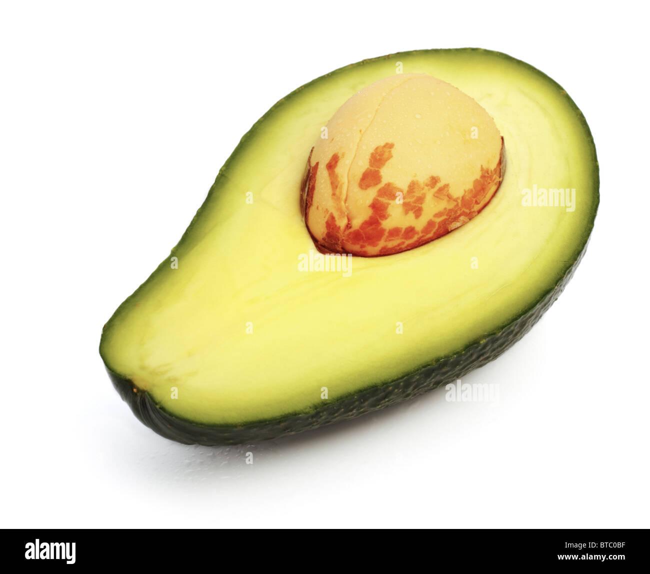 fresh avokado slice, white background Stock Photo