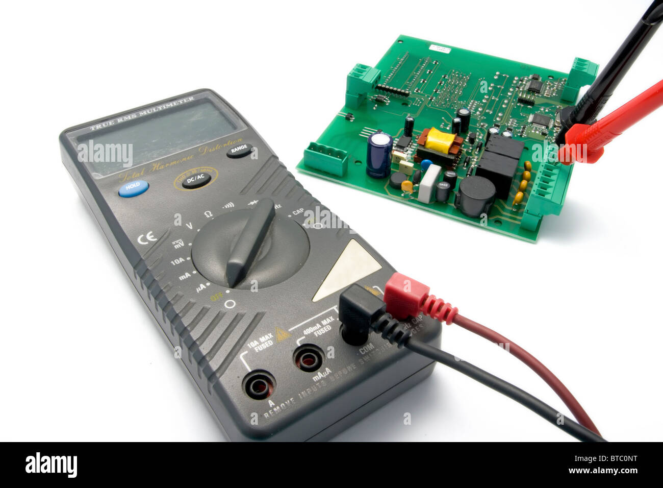 Multimeter Stock Photos Images Alamy Test Car Fuse Box Isolated And Printed Circuit Board For Testing Image