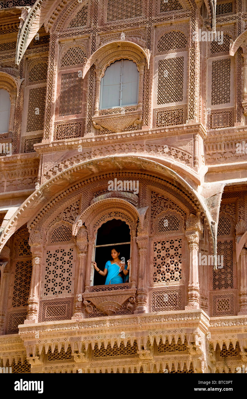 Mehrangarh Fort, Jodhpur , Rajasthan, India - Stock Image