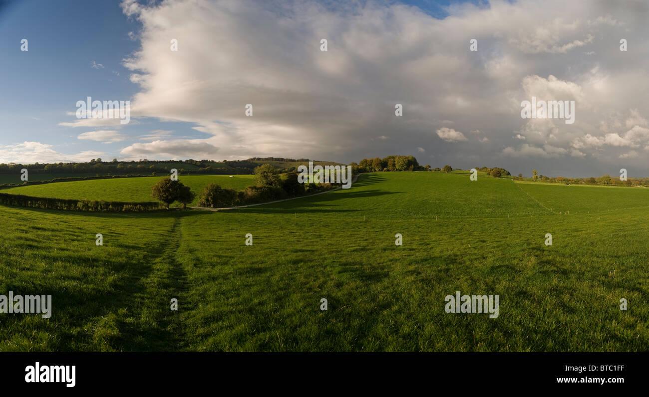 Meon Valley near Exton, Hampshire, UK - Stock Image