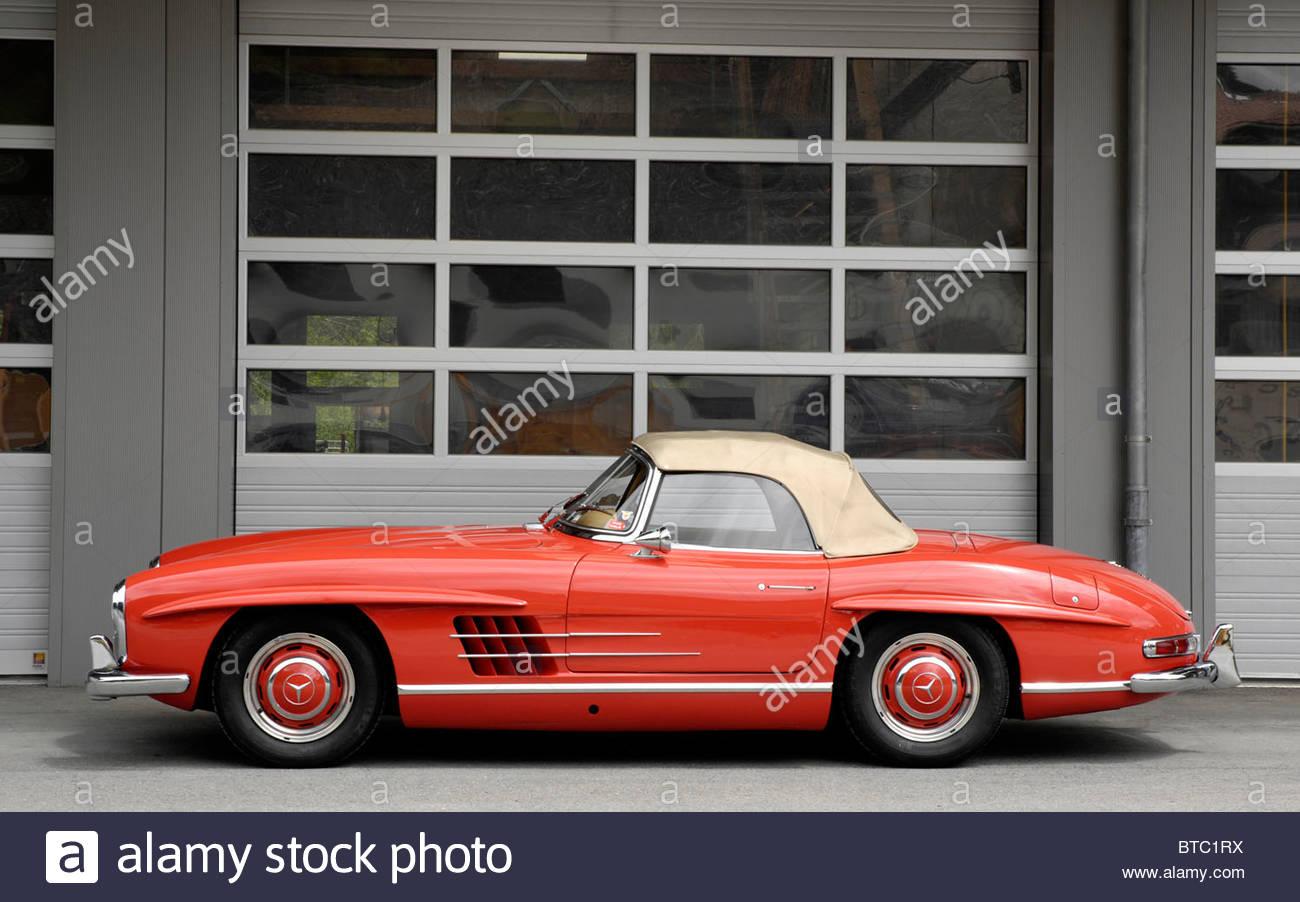 Mercedes Benz 300SL Roadster 1955 - Stock Image