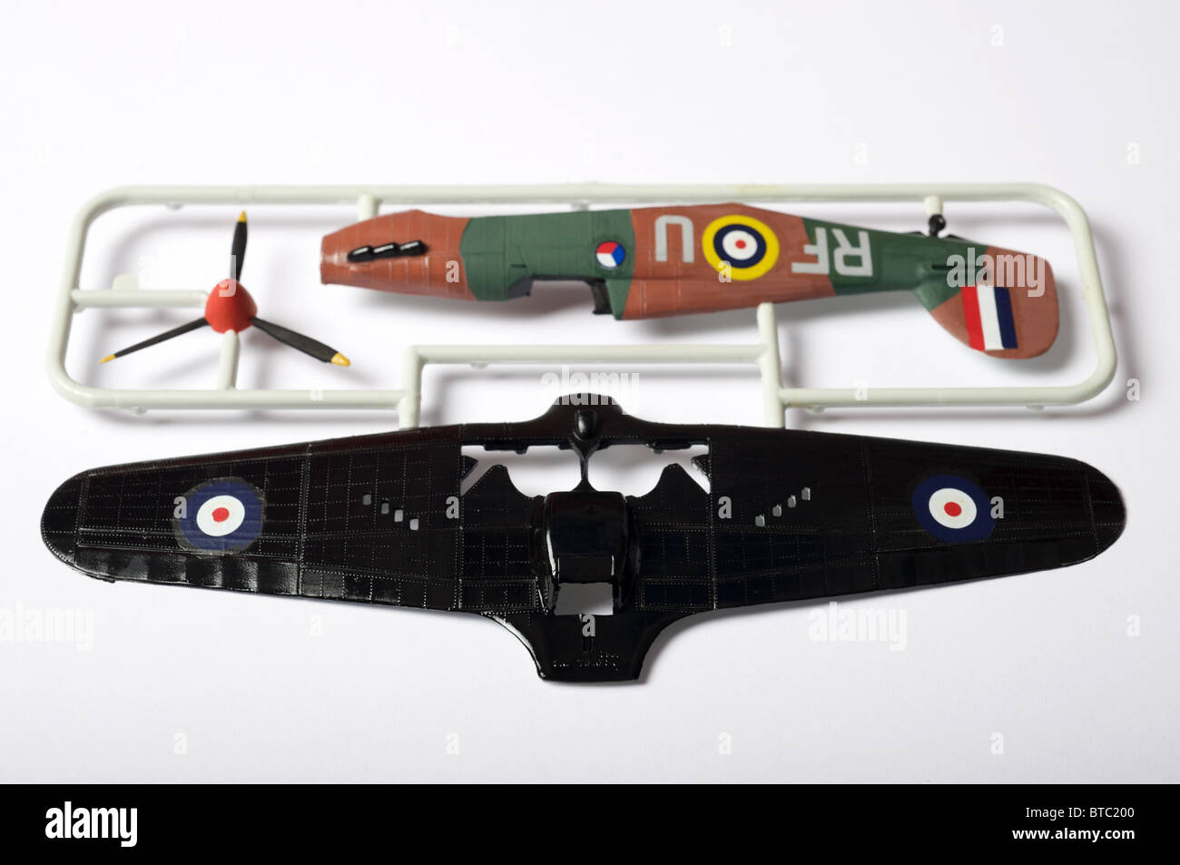Revell 1:72 scale Hawker Hurricane MK.1 plastic model kit. - Stock Image