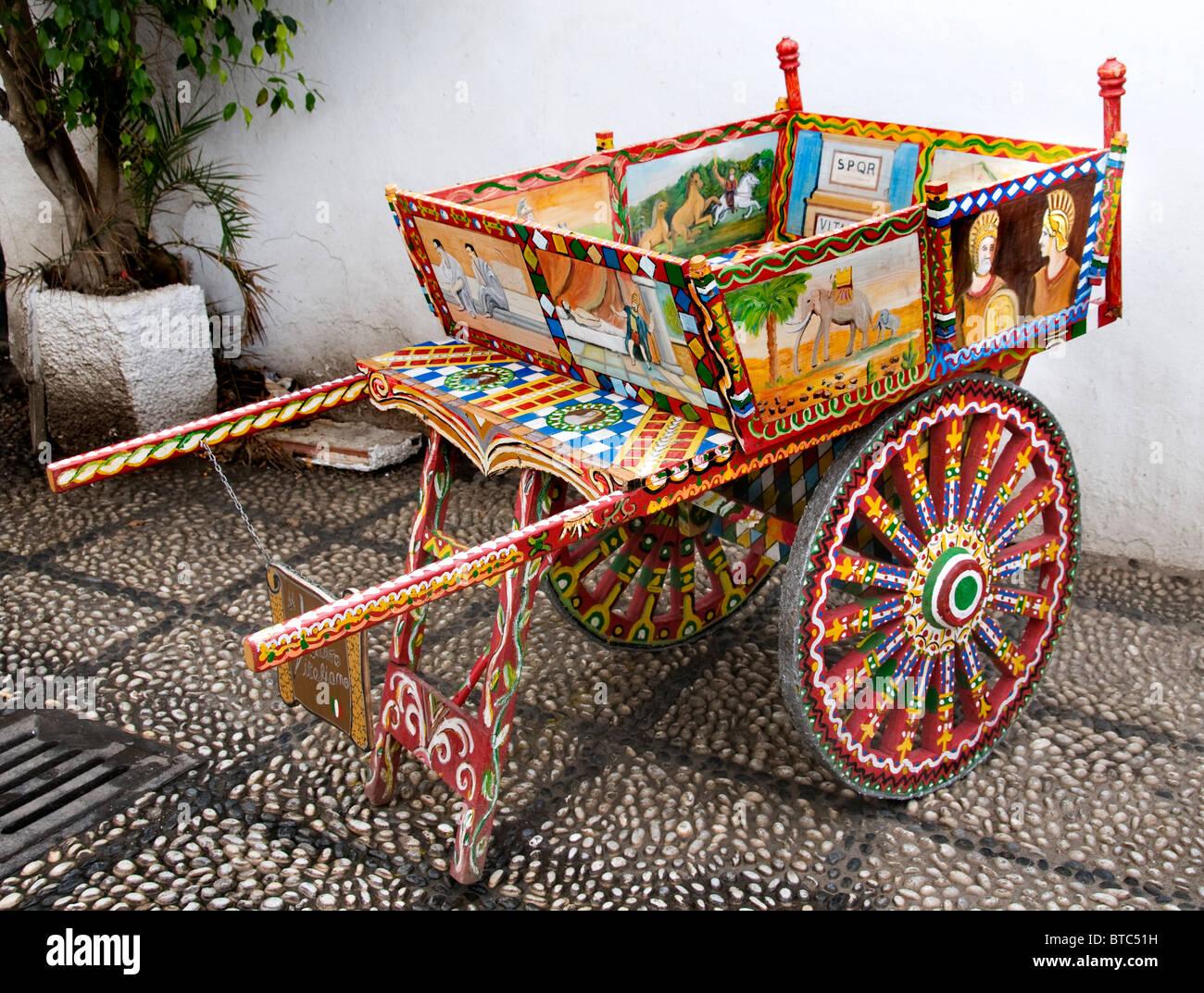 Nerja  Spain ( Malaga ) horse carriage cart old - Stock Image