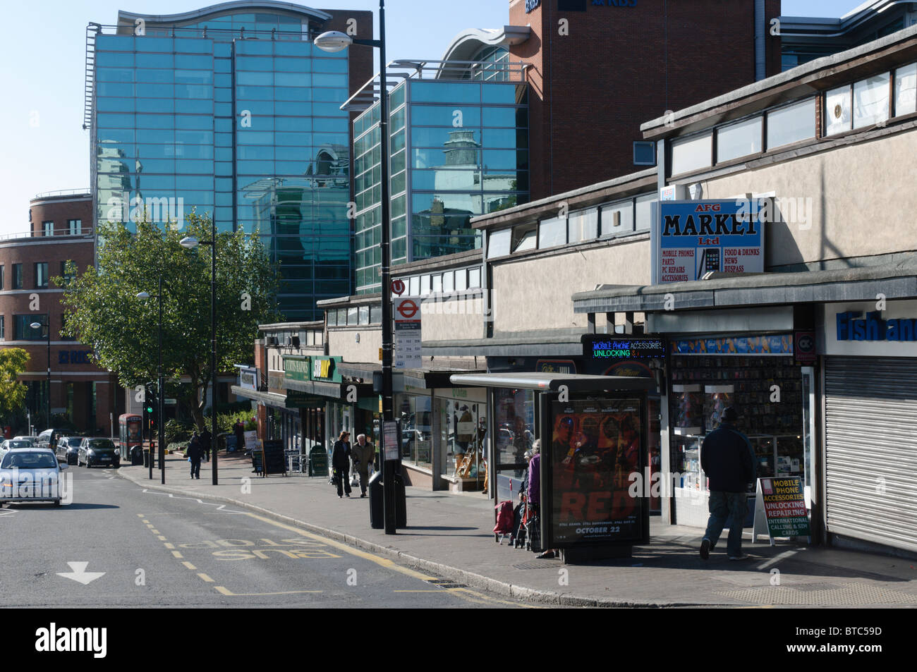 The High Street Of Bromley Kent At Bromley South Stock Photo Alamy