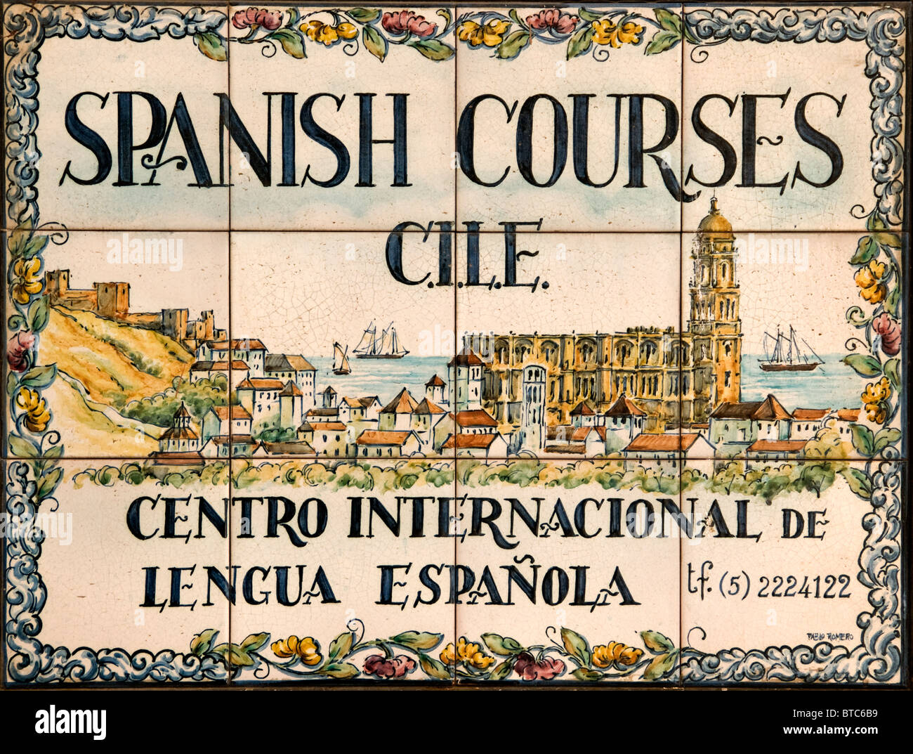 Malaga Spain Andalusia Spanish Language courses - Stock Image