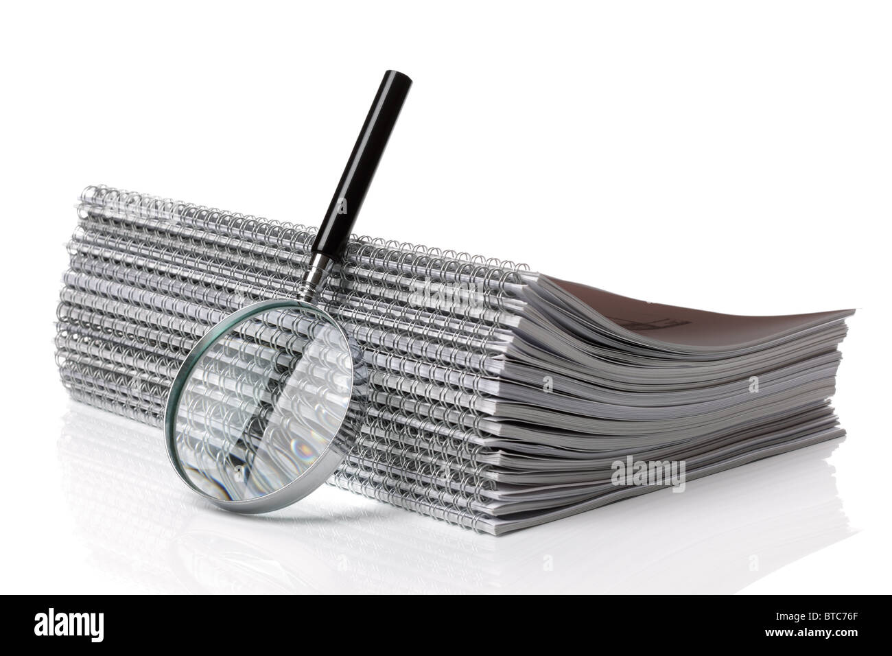 Searching ring binder document - Stock Image