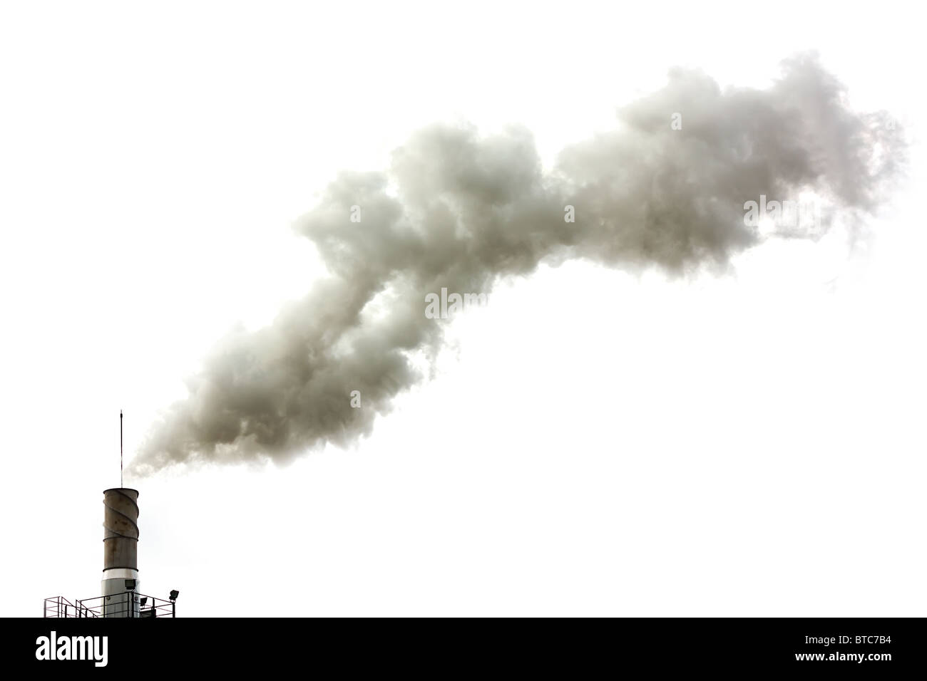Dirty smoke isolated, ecology problems - Stock Image