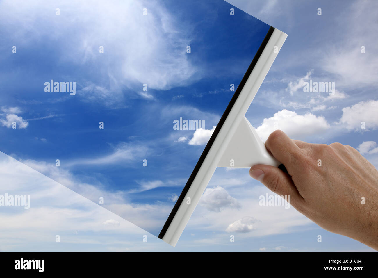 Clear blue sky - Stock Image