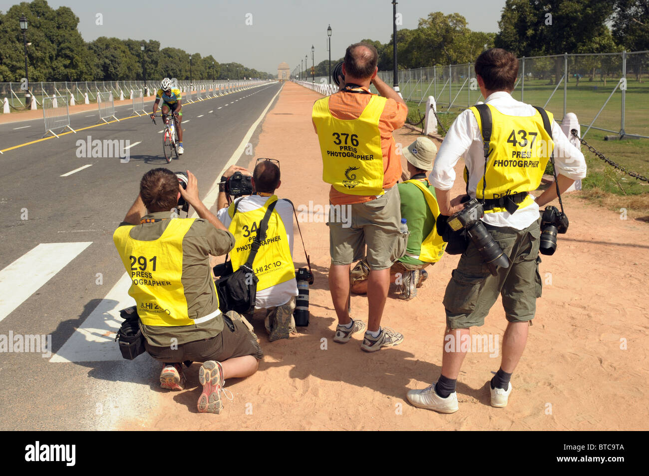 A pack of Sports photographers. Stock Photo