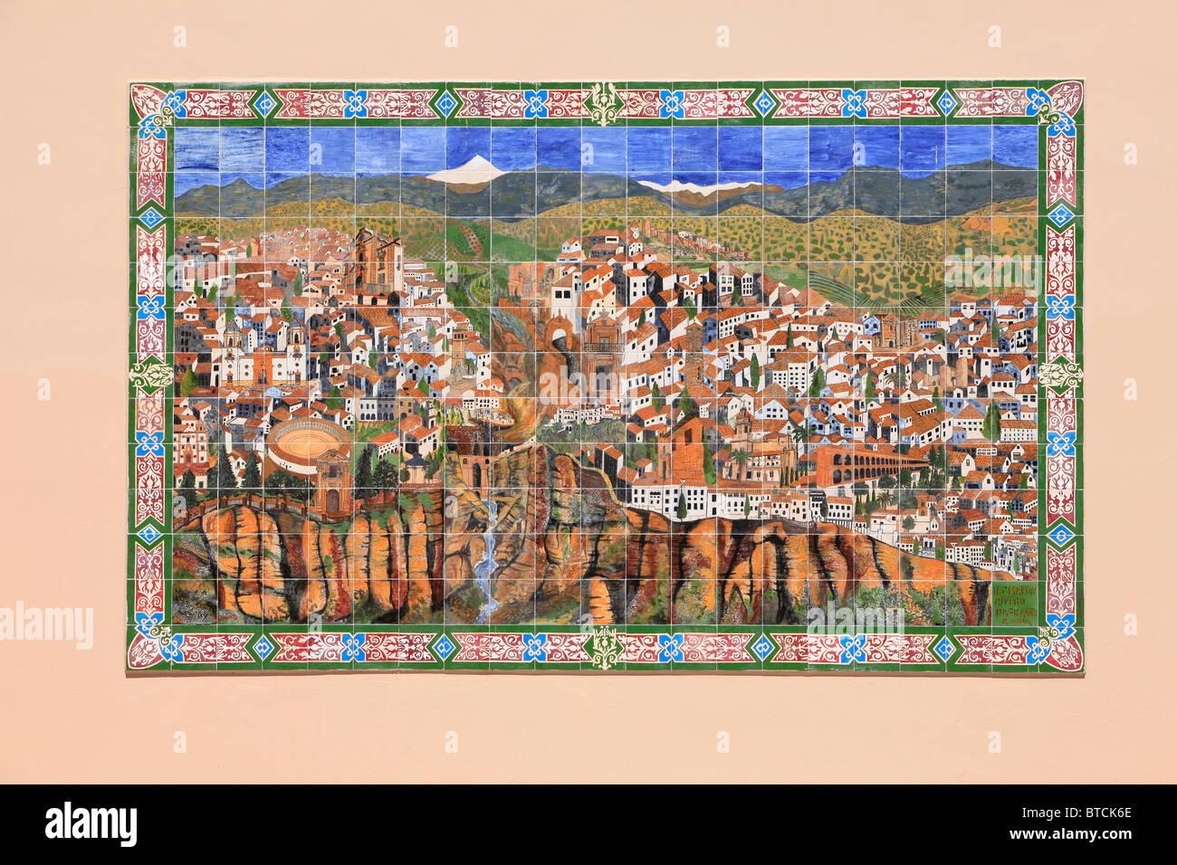 Mosaic Map Of Ronda Spain Stock Photo 32240614 Alamy
