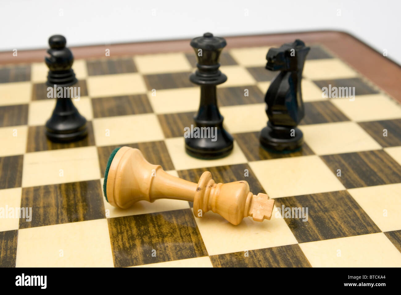 Check Mate showing concept for strategy success and battle in business - Stock Image