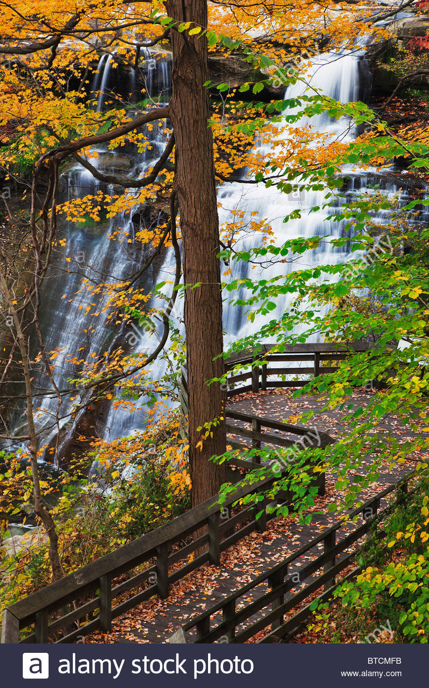 Brandywine Falls in autumn,Cuyahoga Valley National Park, Cleveland, Ohio - Stock Image