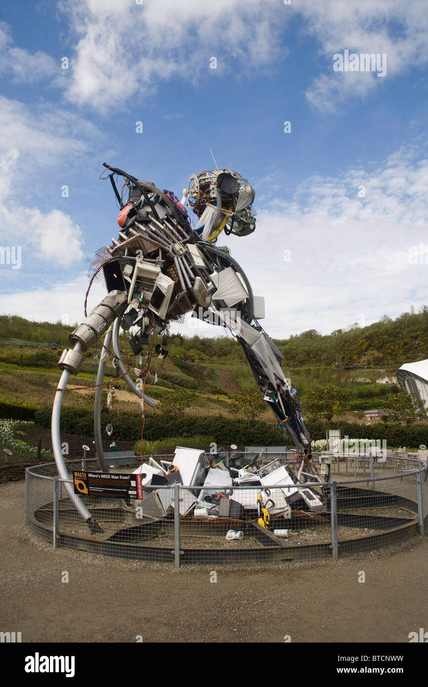 Trash Waste Sculpture Eden Project United Kingdom Stock Photo