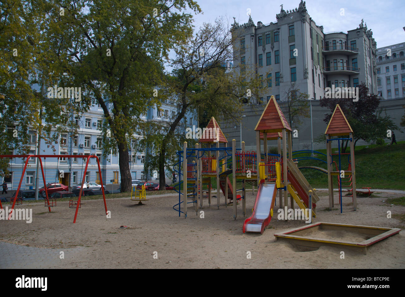 Children's playground central Kiev Ukraine Europe Stock Photo