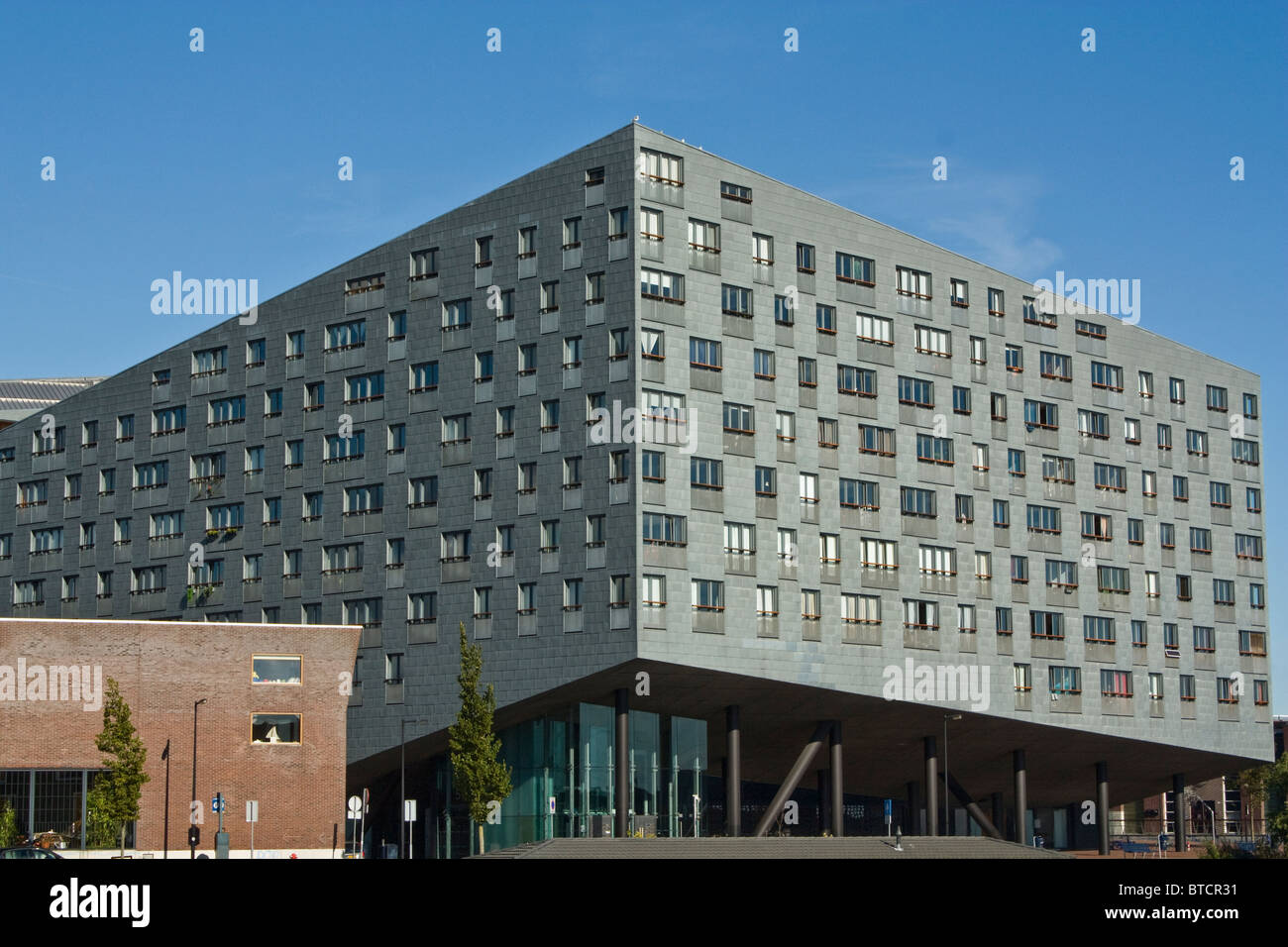 Sfinx or Whale by Frits van Dongen, modern architecture in Amsterdam, Sporenburg, Eastern Harbour Docklands, - Stock Image