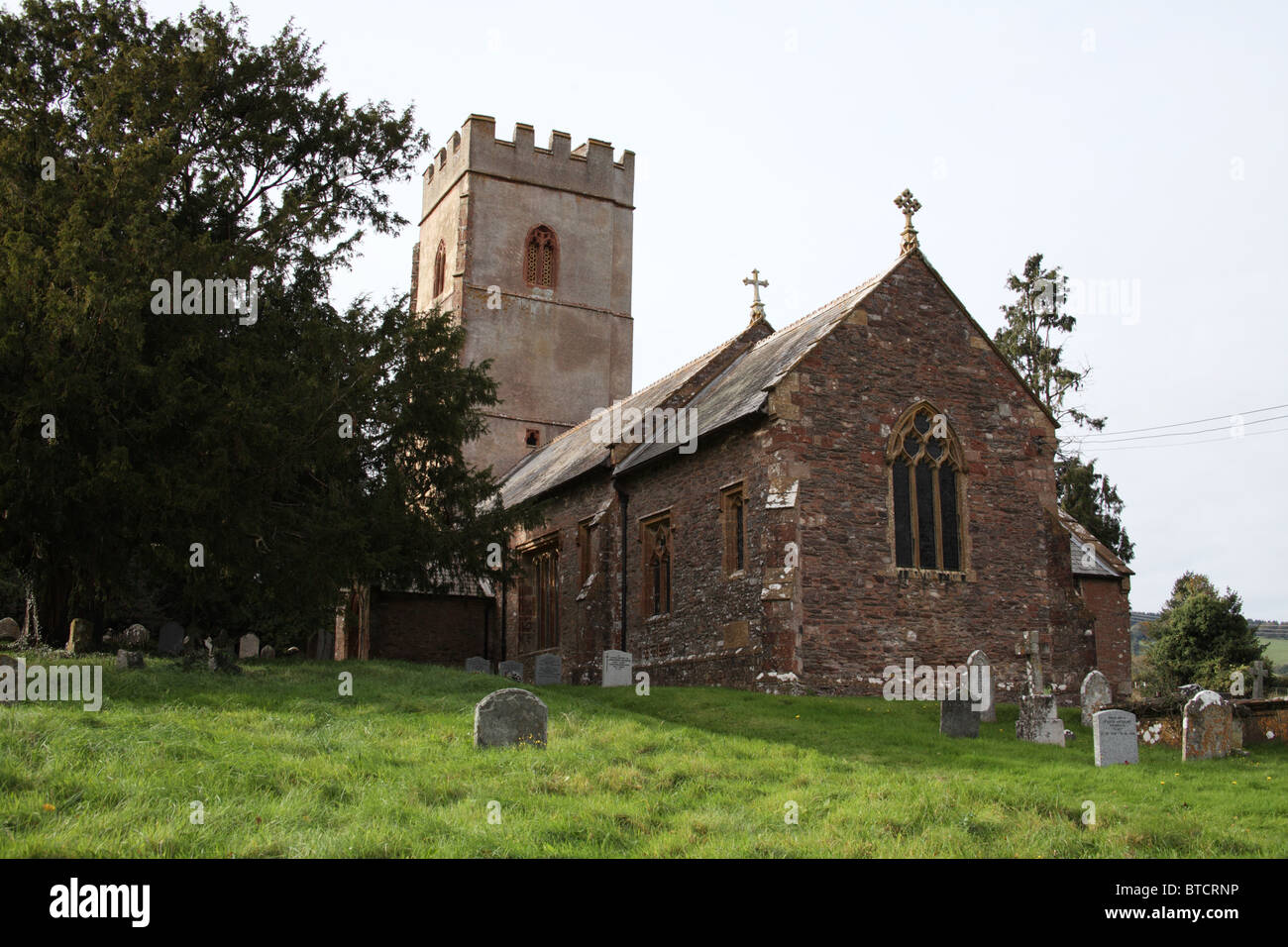 St Mary's Church, Brompton Ralph, Somerset - Stock Image