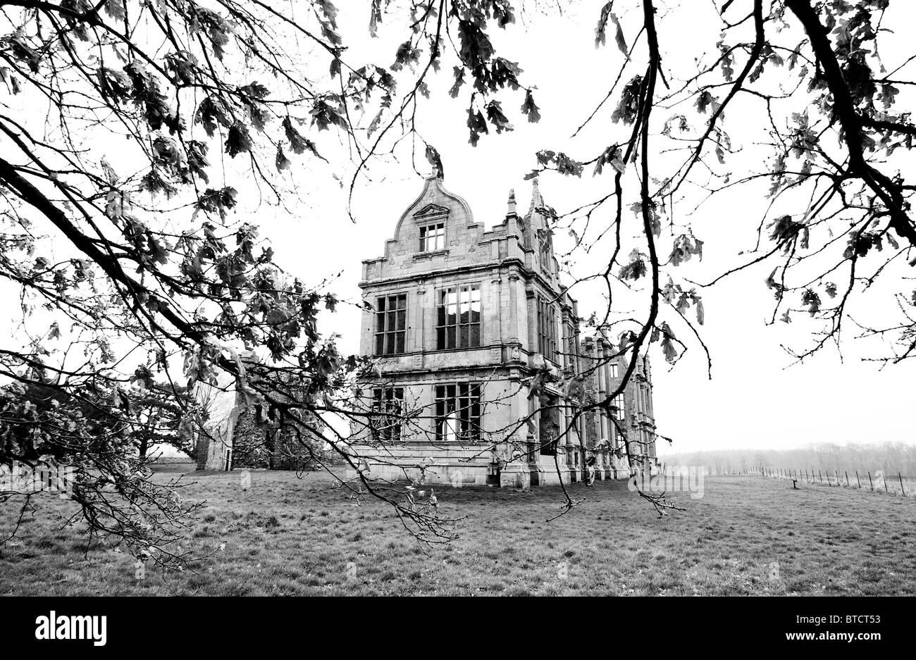 Moreton Corbet castle ruins, Shropshire, UK - Stock Image