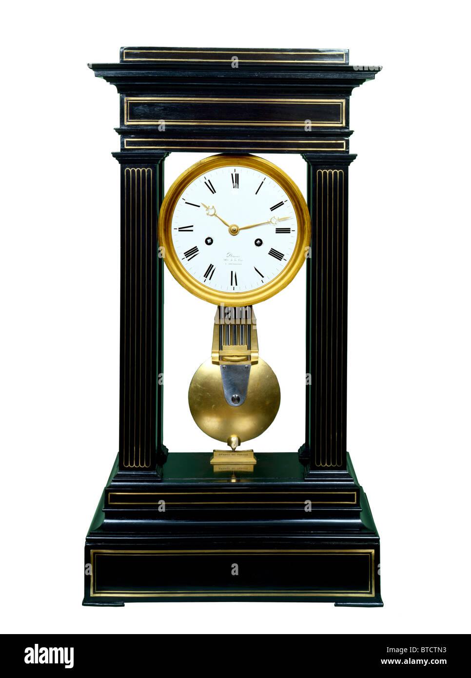 antique portico clock - Stock Image