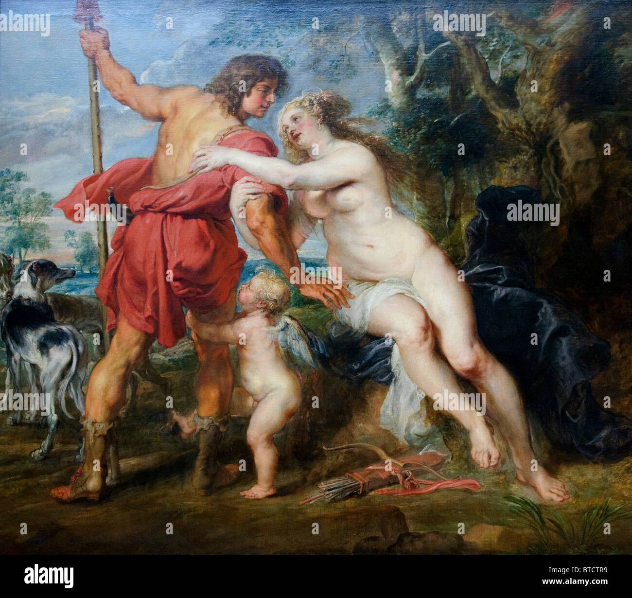 Venus and Adonis, mid- or late 1630s, by Peter Paul Rubens - Stock Image