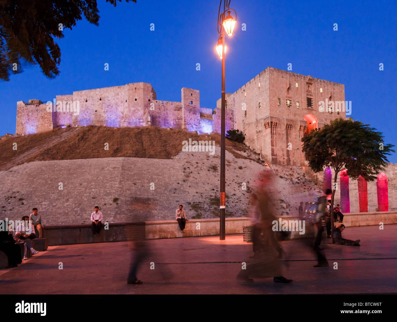 The citadel ( castle ) of Aleppo, Syria Stock Photo