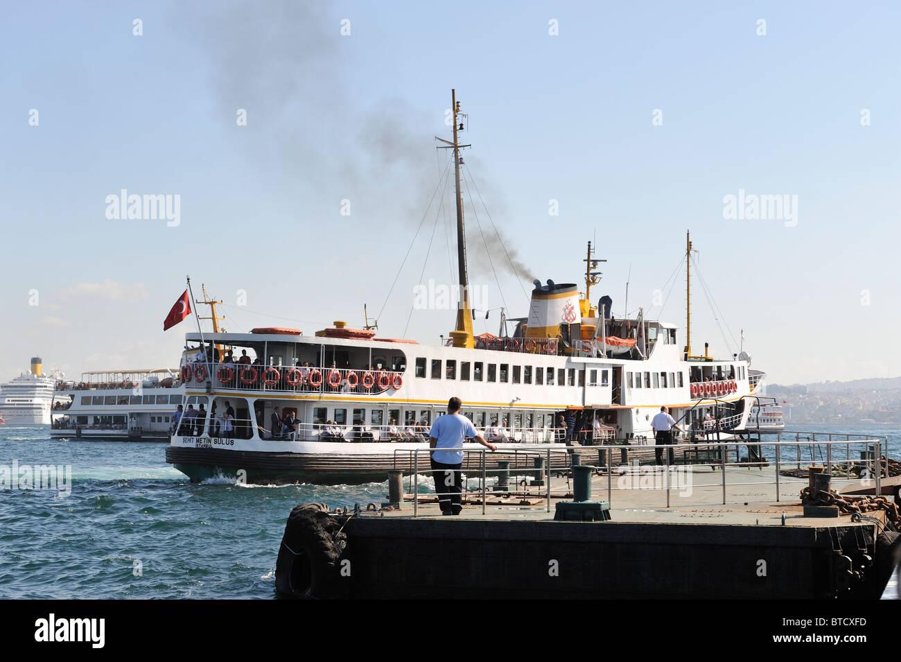 Ferry, dock, Golden Horn, İstanbul, Turkey 100916_35985 - Stock Image