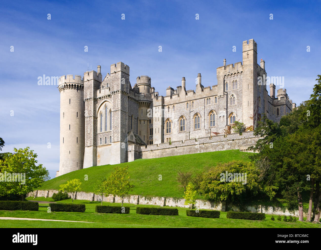 Arundel Castle, seat of the Duke of Norfolk, West Sussex, UK - Stock Image