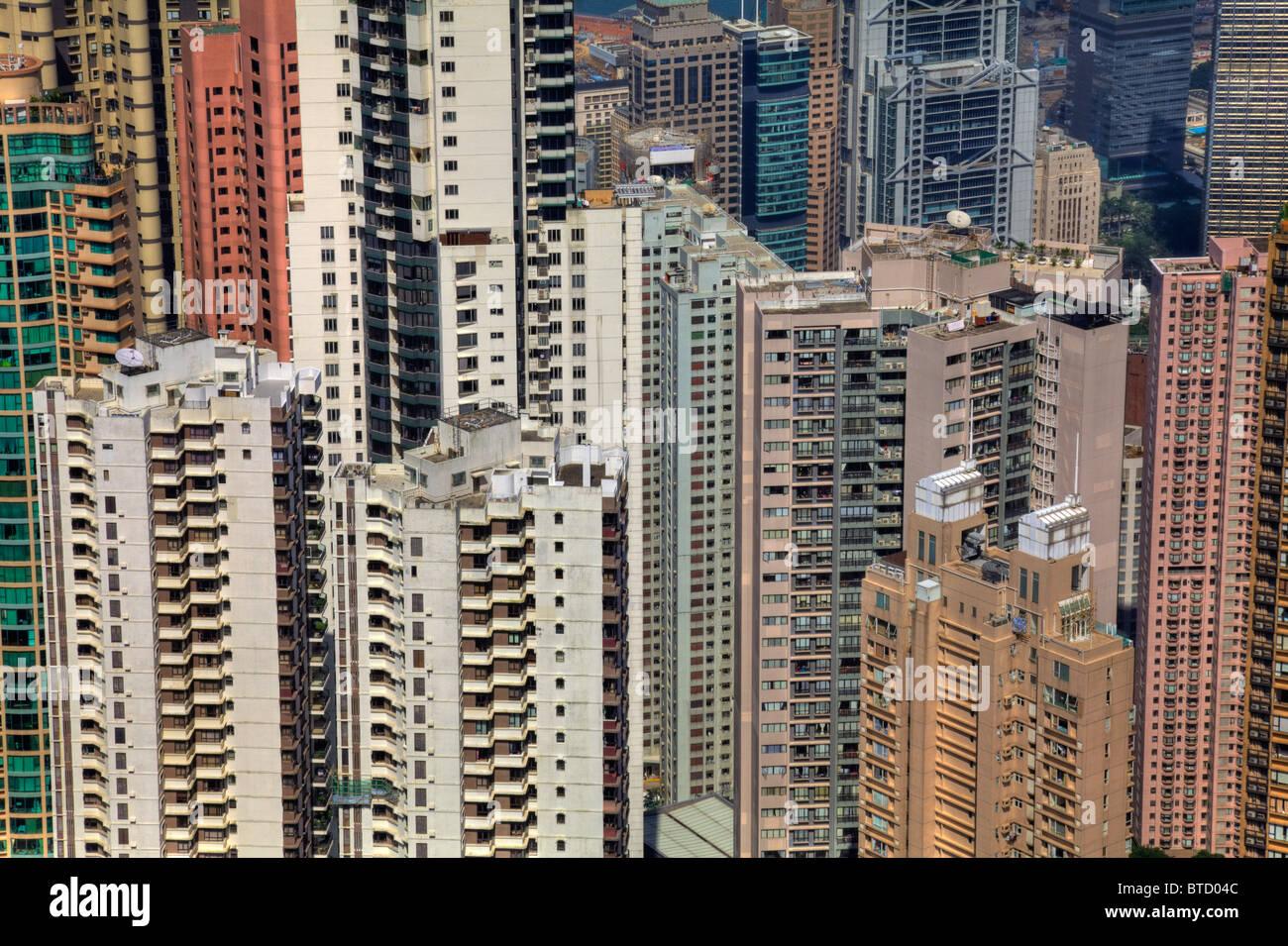 The tight living space Hong Kong, China, Hong Kong living, hong kong apartment blocks, hong kong homes, apartment - Stock Image