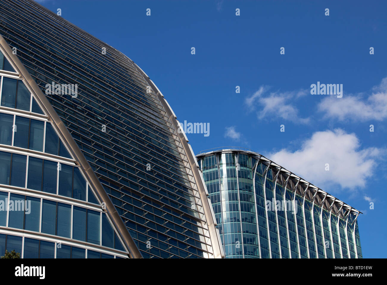 Moor House (L) and Citypoint buildings, London, UK - Stock Image