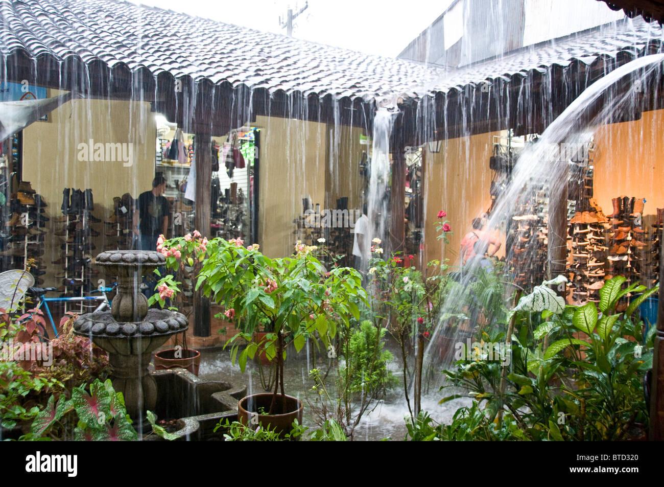 Heavy rains Leon Nicaragua - Stock Image