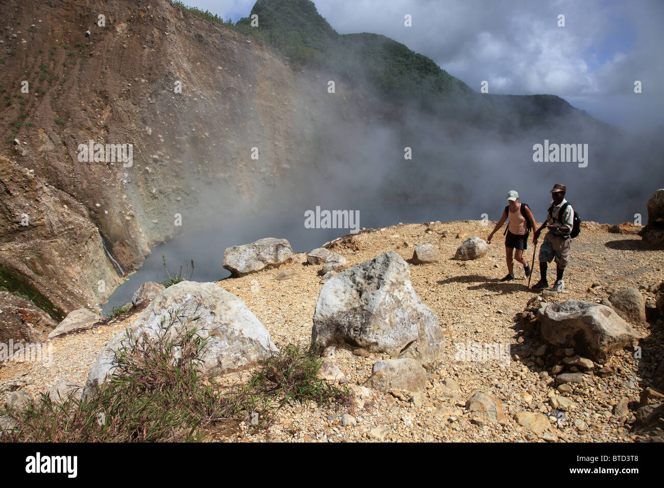 The Valley of Desolation and Boiling Lake, Dominica - Stock Image