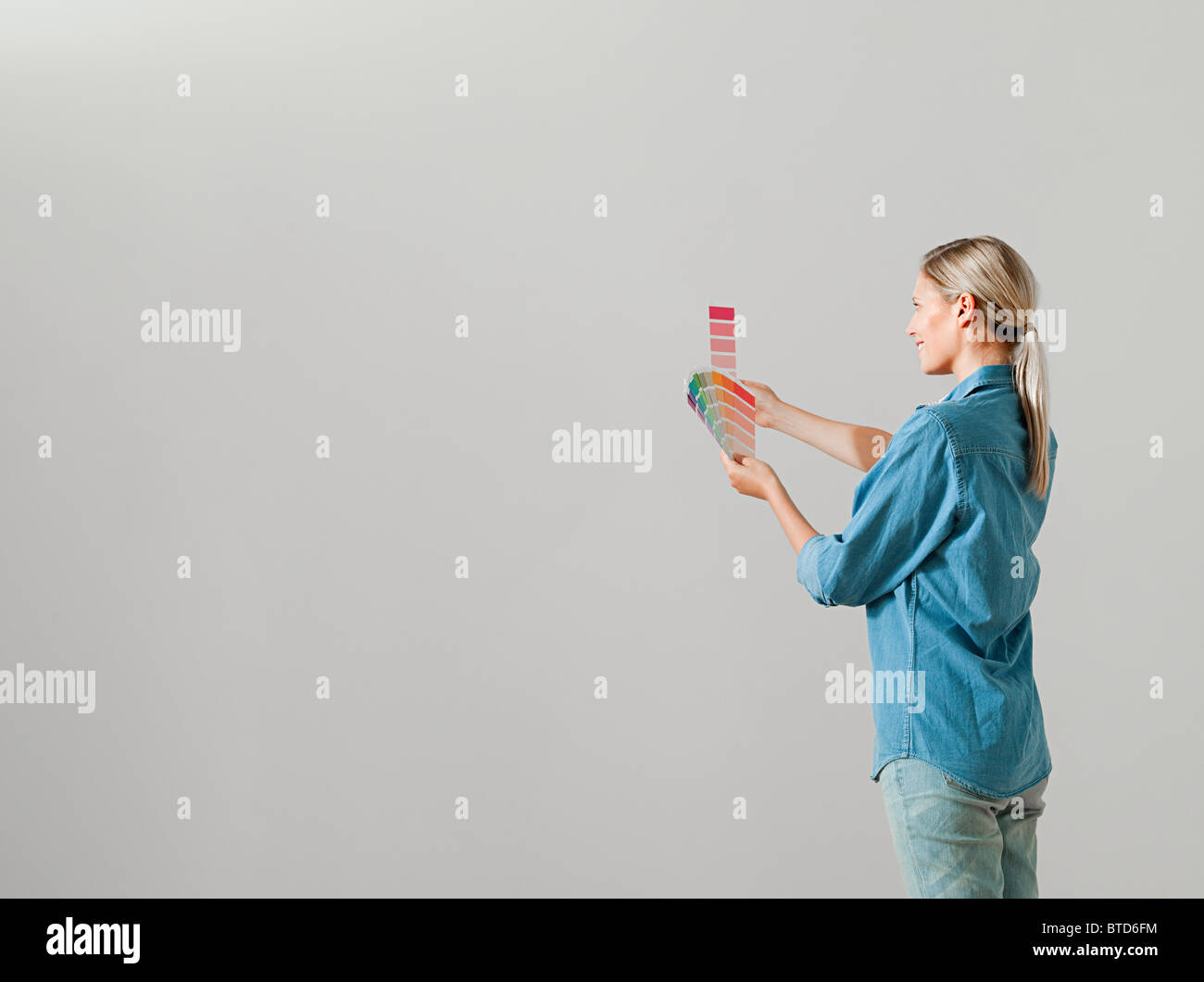 Woman Ponytail White Background Rear High Resolution Stock Photography And Images Alamy