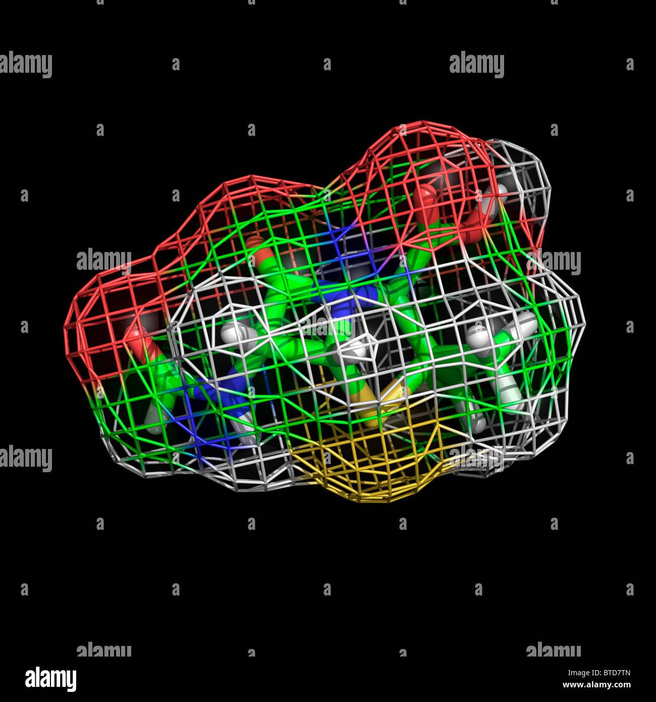 Penicillin molecule - Stock Image