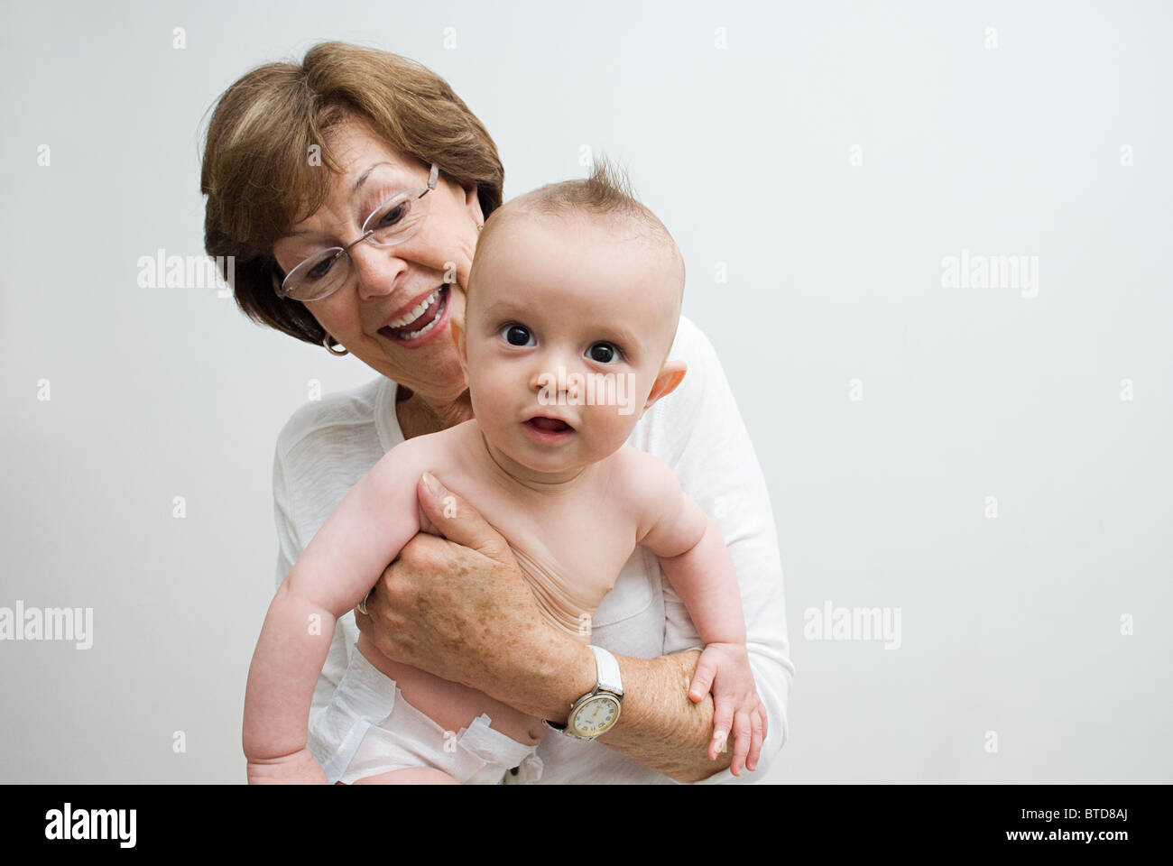 Grandmother with grandson - Stock Image