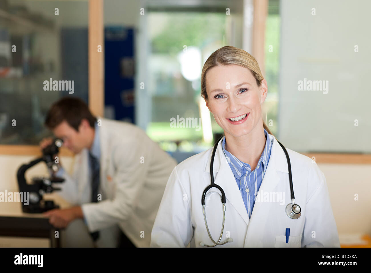 Doctor in laboratory - Stock Image