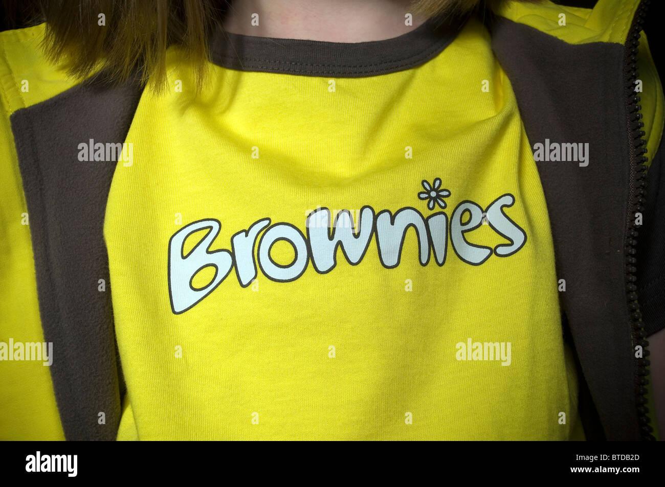 Brownies uniform,brownie, brownies, uniform, sash, girl, child, badges, - Stock Image