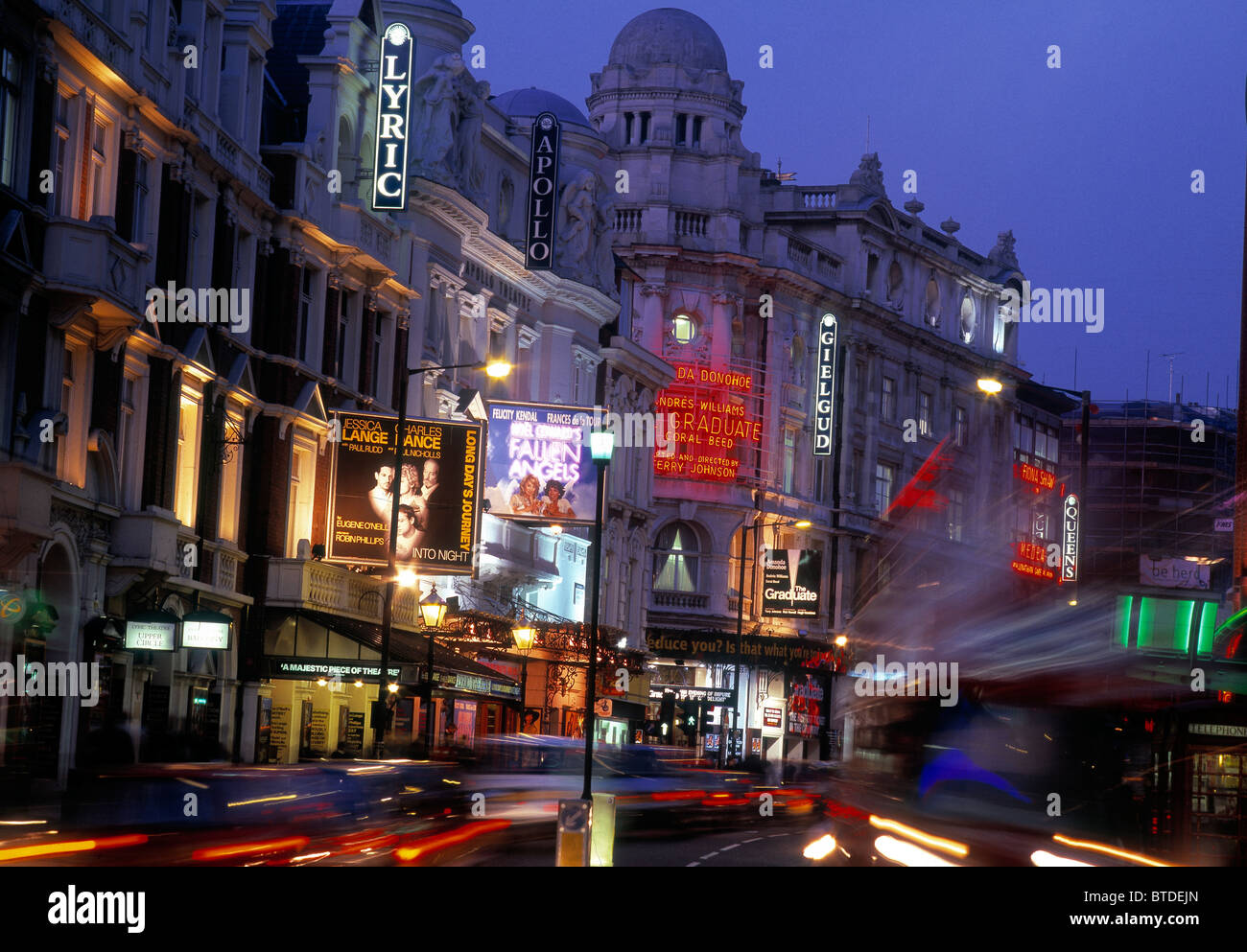 Shaftesbury Avenue, Theatreland - Stock Image