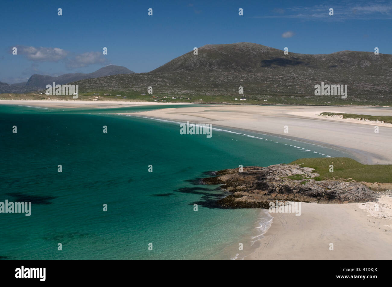 Traigh Sheileboist extensive sands and beach, west Harris, Outer Hebrides, Western Isles Scotland - Stock Image