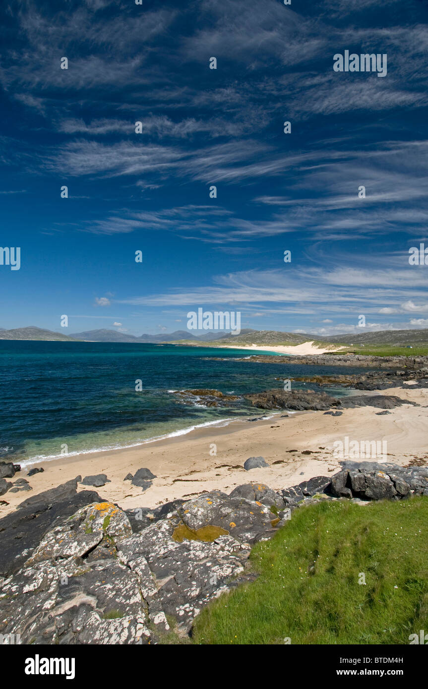 Traigh Sheileboist extensive sands and beach, west Harris, Outer Hebrides, Western Isles Scotland.  SCO 6896 - Stock Image