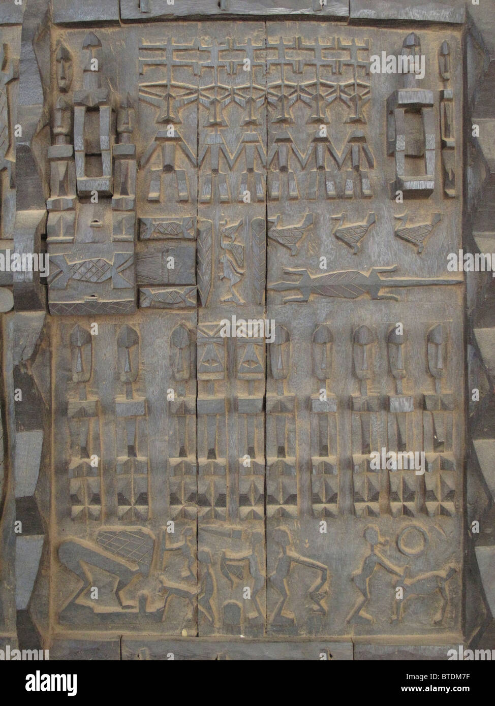 A carved wooden Dogon door panel & A carved wooden Dogon door panel Stock Photo: 32263379 - Alamy