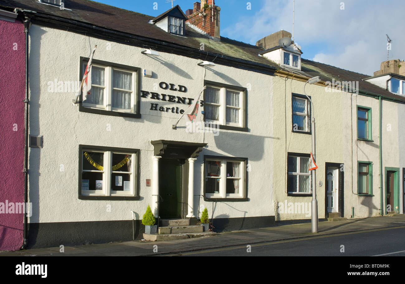 The Old Friends, a little local boozer on Soutergate, in Ulverston, Cumbria, England uk - Stock Image