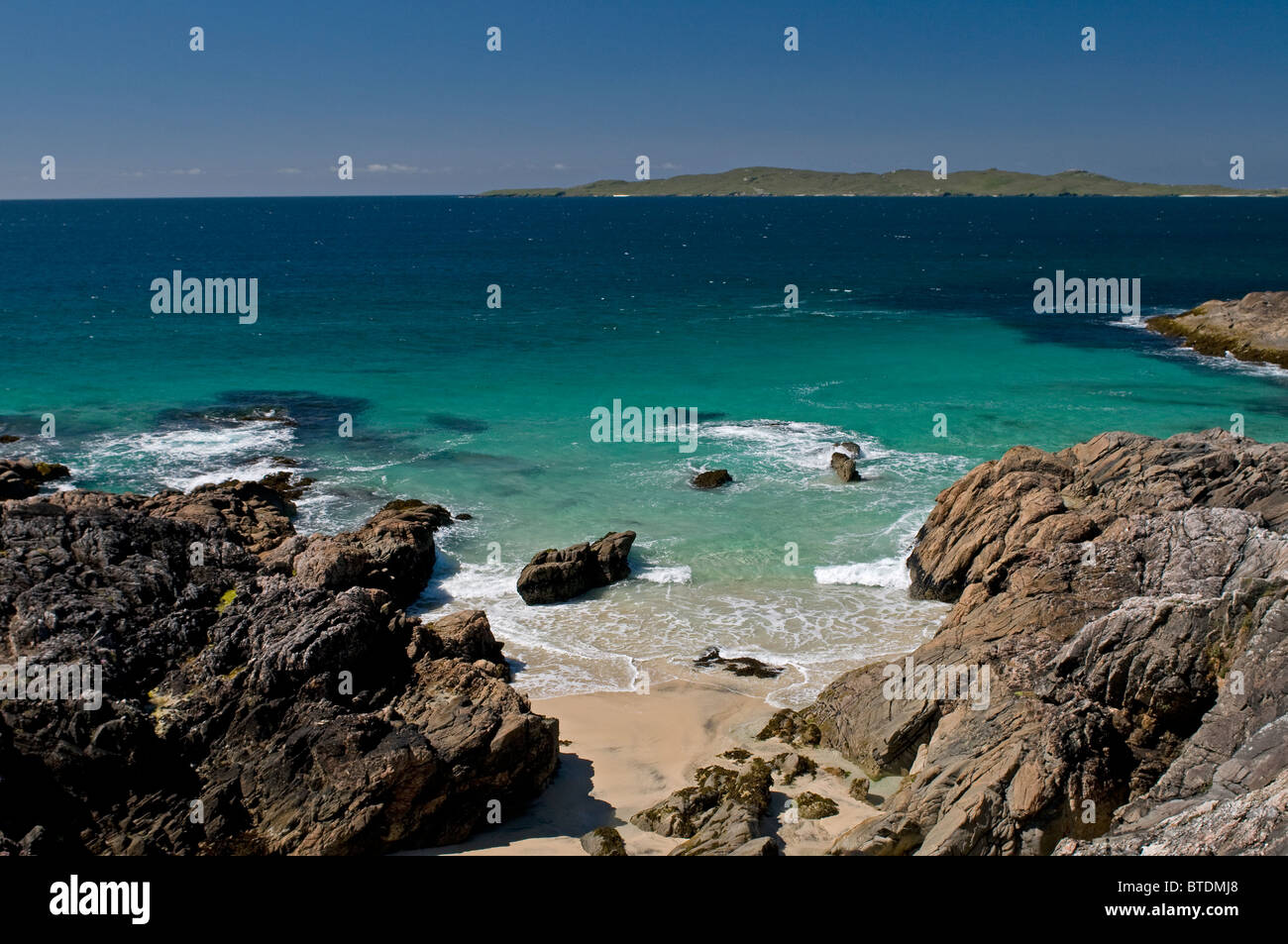 Traigh Sheileboist extensive sands and beach, west Harris, Outer Hebrides, Western Isles Scotland  SCO 6897 - Stock Image