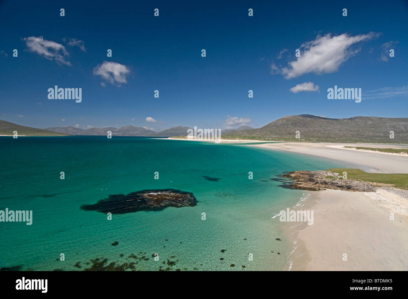 Traigh Sheileboist extensive sands and beach, west Harris, Outer Hebrides, Western Isles Scotland.  SCO 6898 - Stock Image