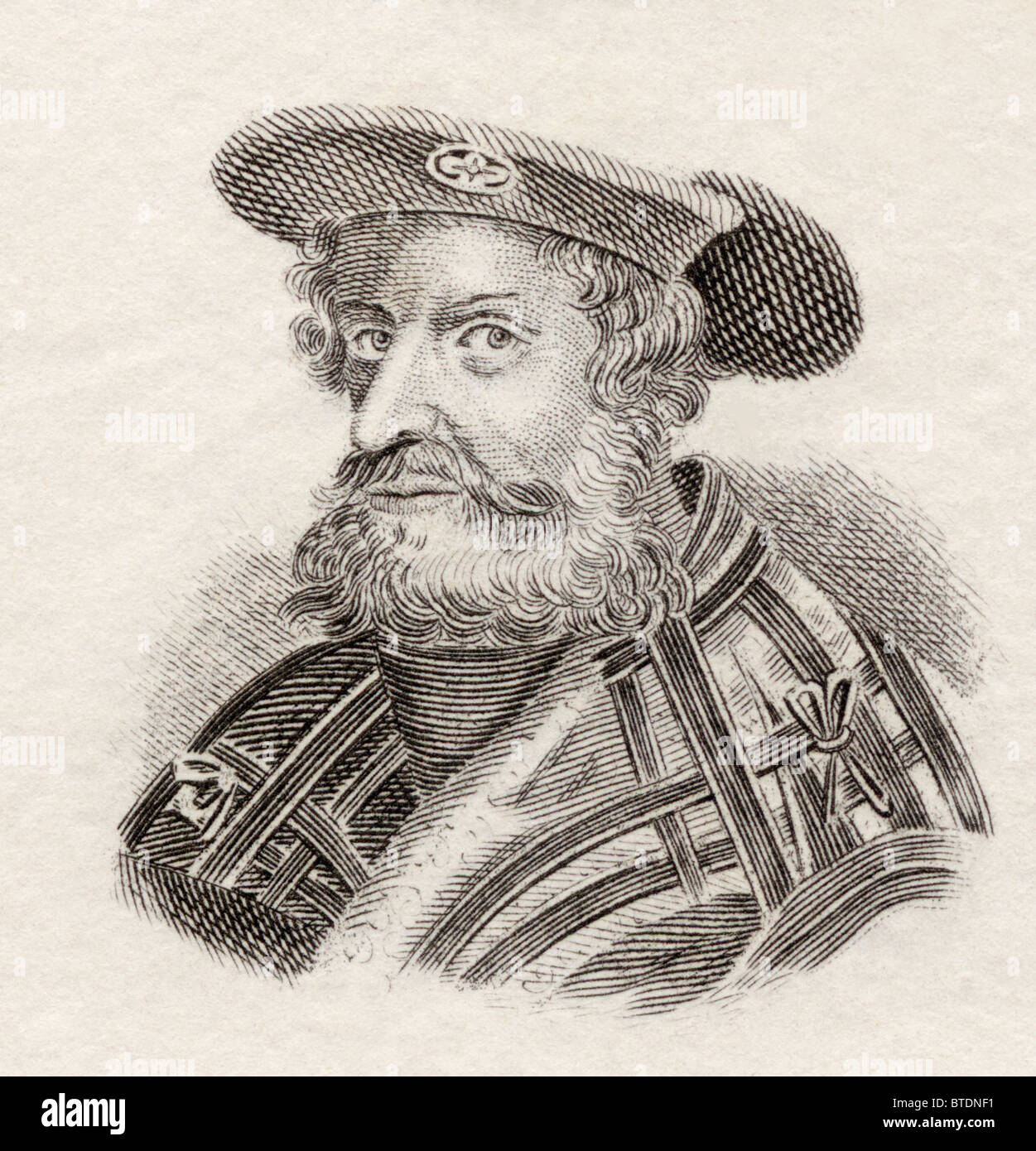 Claudius Ptolemaeus, or Ptolemy, c. AD 90 to c.168. Roman mathematician, astronomer, geographer and astrologer. - Stock Image