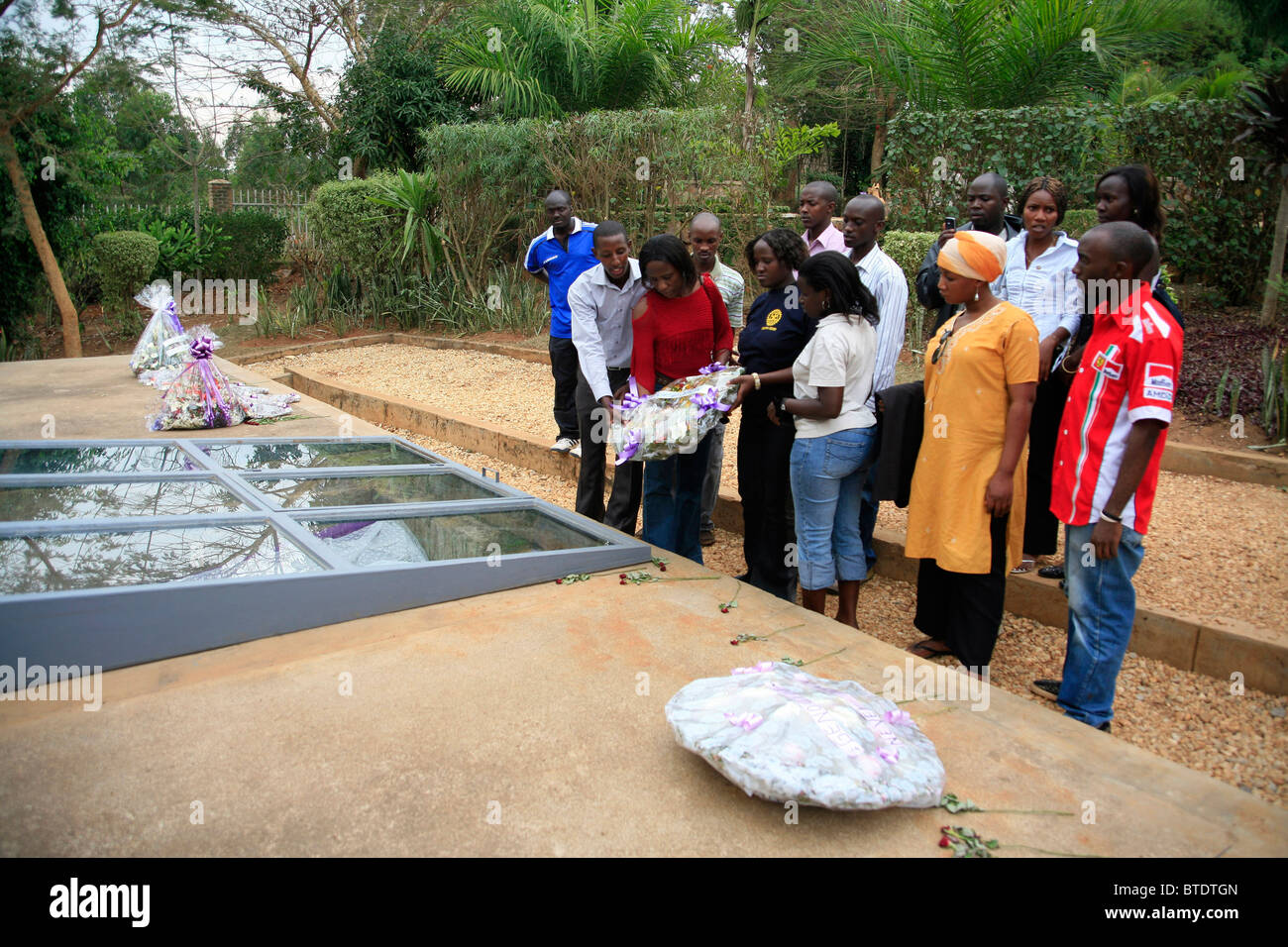 Kigali Memorial Centre in Kigali, Rwanda, a museum and memorial to the one million Rwandans killed in the 1994 genocide - Stock Image