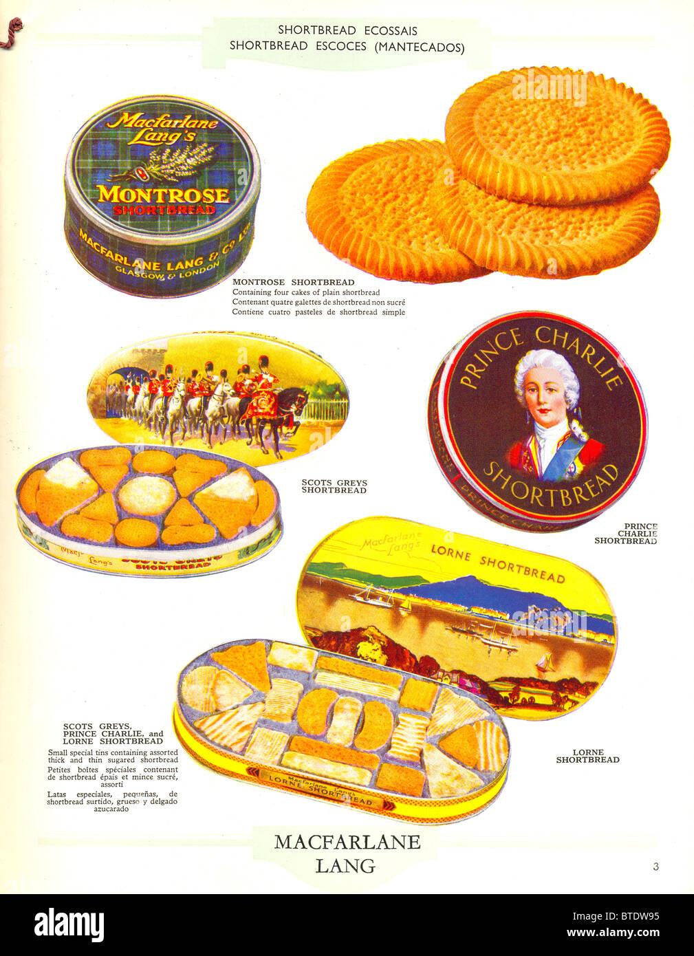 Shortbread from Macfarlane Lang's  catalogue - Stock Image