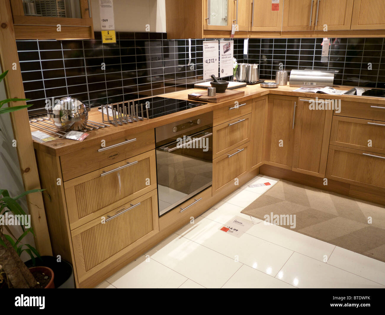 Ikea Kitchen In Ikea   Stock Image