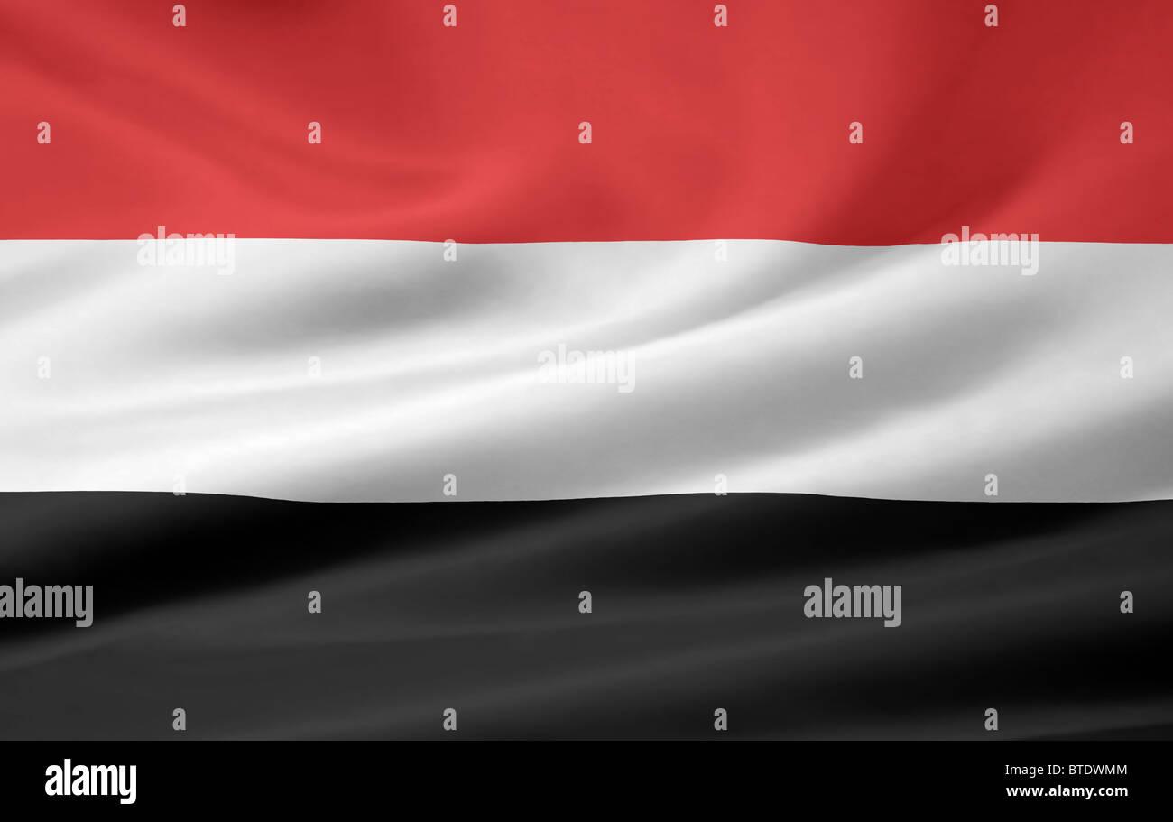 Very large flag of Yemen Stock Photo