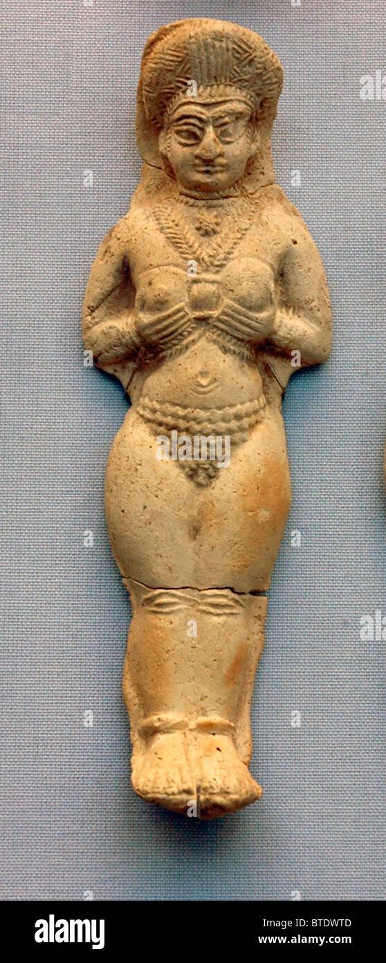 5230. CERAMIC FERTILITY FIGURINES, ELAMITE, 1500-1000 BC, SUSA, S/W IRAN - Stock Image