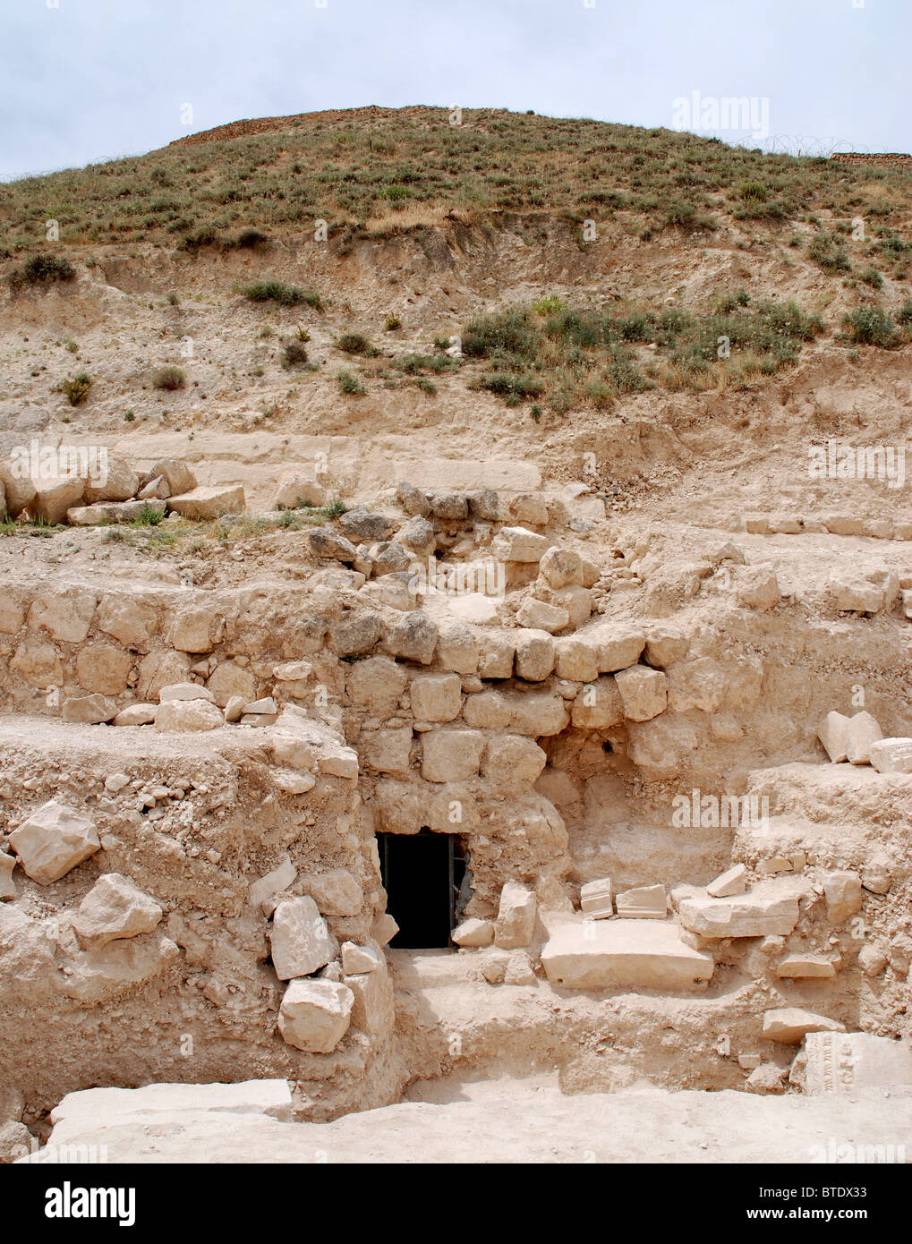 5371. Herodium, King Herod's Tomb. Early stages of excavations. - Stock Image