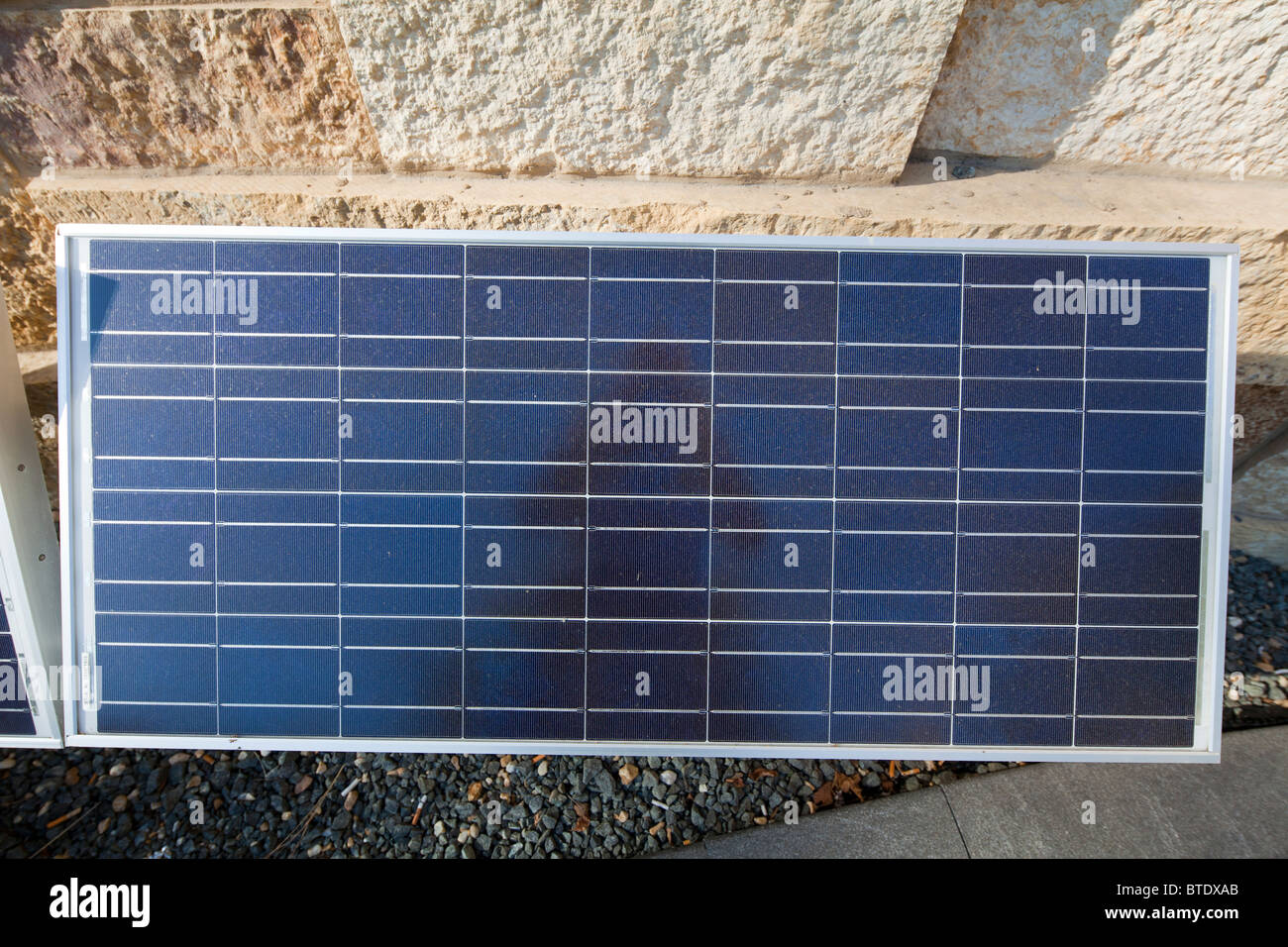 Polycrystalline solar panel - Stock Image